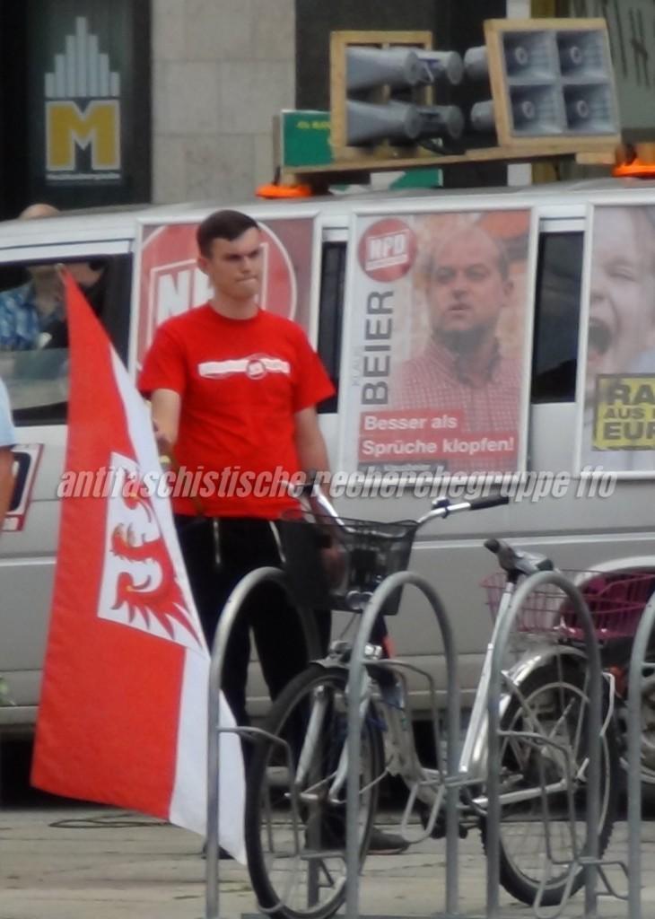 """Führungsfigur der """"Nationalen Jugend Storkow"""": Eric Lademann."""