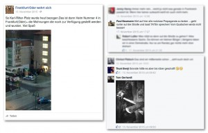 Gewaltphantasien in den Kommentarspalten. Die Bedrohung durch Neonazis nimmt auch in Frankfurt (Oder) immer weiter zu. (Quelle: facebook)