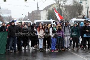 Nicht aufgepasst in der Schule: Auffallend viele junge Rassist*innen beteiligten sich am Neonaziaufmarsch am 20. Februar in Frankfurt (Oder). (Quelle: pressedienst frankfurt (oder))